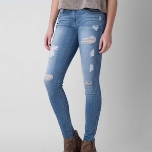 Flying Monkey Platinum Distressed Skinny Jeans